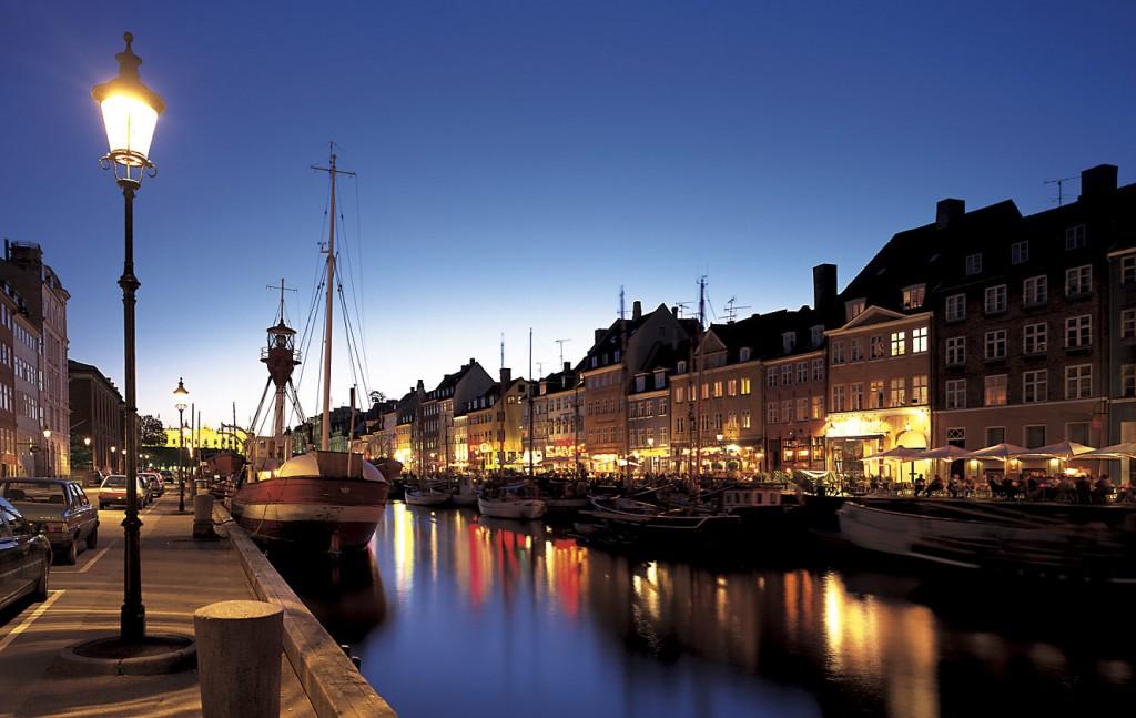 Denmark Copenhagen Nyhaven Harbour